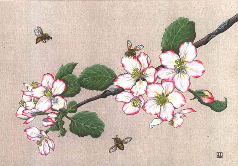 Постельное белье Цветущая вишня розовый  Для дома